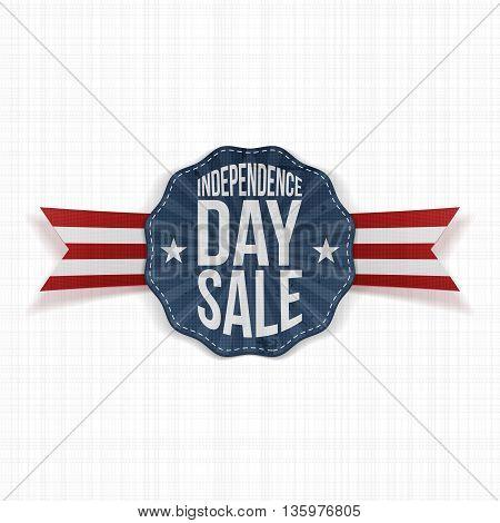 Independence Day Sale vintage Label. Vector Illustration