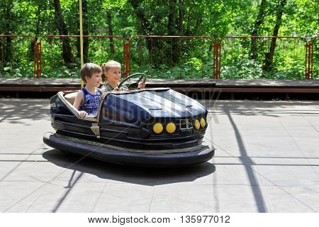 Children at play in the attraction