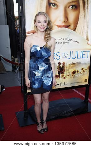 Amanda Seyfried at the Los Angeles premiere of 'Letters To Juliet' held at the Grauman's Chinese Theater in Hollywood. USA on May 11, 2010.