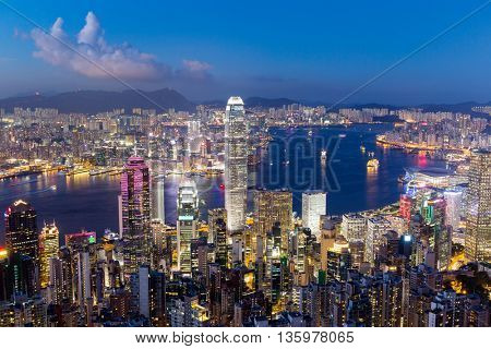 Hong Kong during sunset