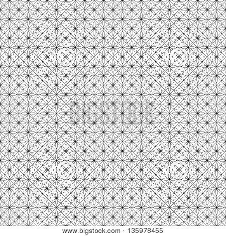 Black patterned net lace on white background