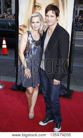 Jennie Garth and Peter Facinelli at the Los Angeles premiere of 'Letters To Juliet' held at the Grauman's Chinese Theater in Hollywood. USA on May 11, 2010.