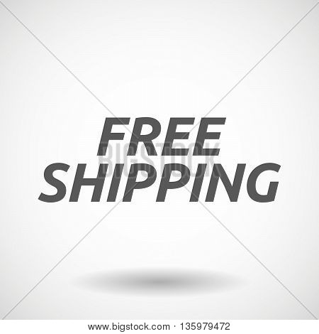 Illustration Of   The Text Free Shipping
