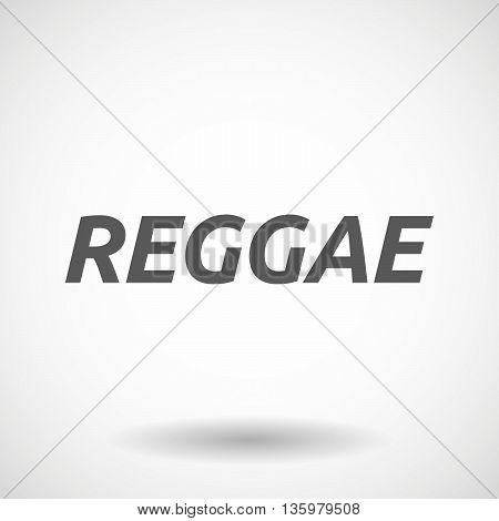 Illustration Of    The Text Reggae