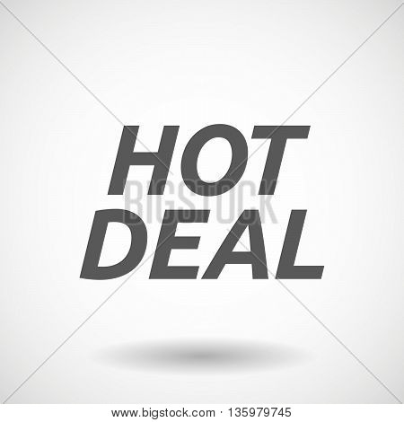 Illustration Of    The Text Hot Deal