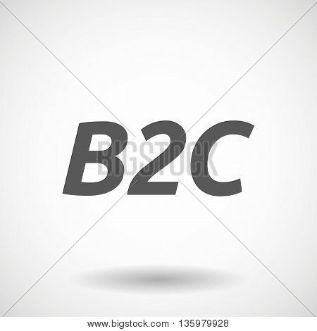 Illustration Of    The Text B2C