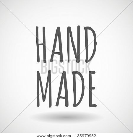 Illustration Of   The Text Hand Made