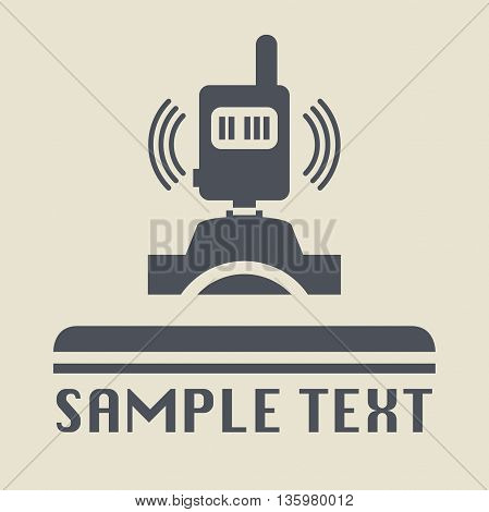 Abstract Photography transmitter icon or sign, vector illustration