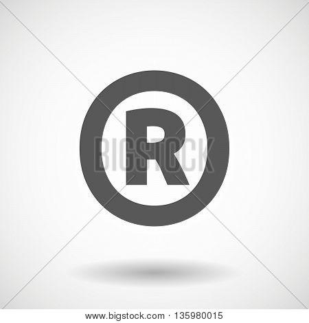 Illustration Of    The Registered Trademark Symbol