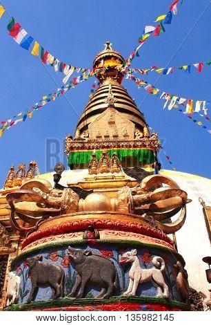 Stupa Swayambhunath in Kathmandu, Nepal