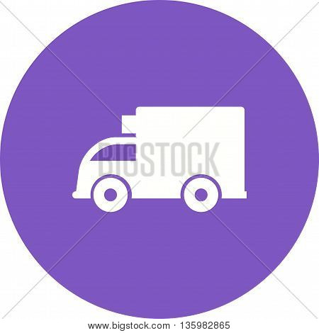 Truck, loading, cargo icon vector image. Can also be used for logistics. Suitable for mobile apps, web apps and print media.
