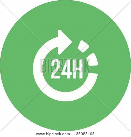 Hour, service, open icon vector image. Can also be used for logistics. Suitable for mobile apps, web apps and print media.