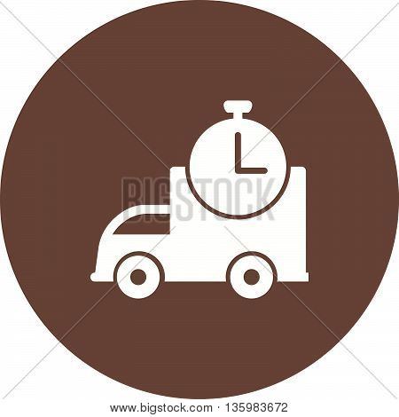 Delivery, time, shipping icon vector image. Can also be used for logistics. Suitable for mobile apps, web apps and print media.
