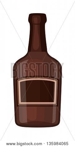 Whiskey bottle vector iocn.