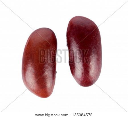 Closeup Red bean isolated on white background