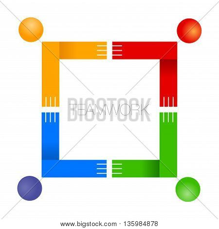 Vector stock of teamwork concept icon symbol illustration