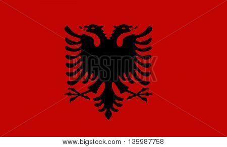 vector illustration art flag of Albania design