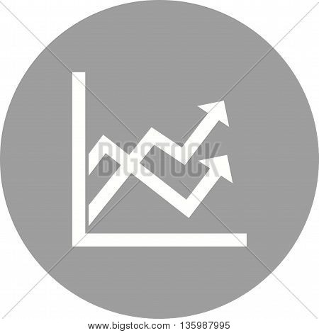 Graph, mathematical, function icon vector image. Can also be used for infographics. Suitable for use on web apps, mobile apps and print media.