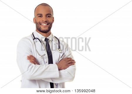 Handsome Afro American Doctor