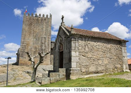Belmonte castle and chaple. Historic village of Portugal, near Covilha
