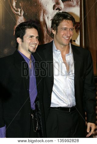 Hal Sparks and Robert Gant at the 56th Annual Primetime Emmy Awards - Showtime After Party held at the Morton's in Beverly Hills, USA on September 19, 2004.
