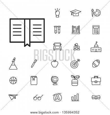 Vector UI Illustration Education School Study Concept