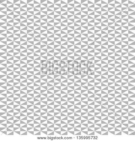 Geometric vector pattern with silver and white triangles. Seamless abstract background