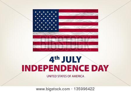 4 Th July Independence Day Usa. United States Of America Vector. Drawing. Image. Graphic. Card. Amer
