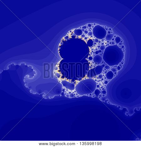 Blue Colored fractal pattern for background or texture