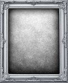 silver frame background