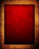 Постер, плакат: красный фон с рамой из кожи