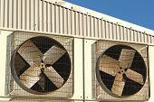 image of air conditioner  - industrial air conditioner and ventilation installation in plant - JPG