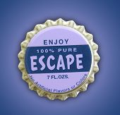 image of sabbatical  - A photo of an esape themed bottle cap - JPG