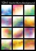 Постер, плакат: 12 в 1 абстрактные векторные размытые картинки