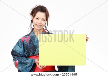 Japanese woman in traditional clothes
