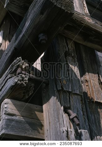 Exterior Detail Of A Wooden