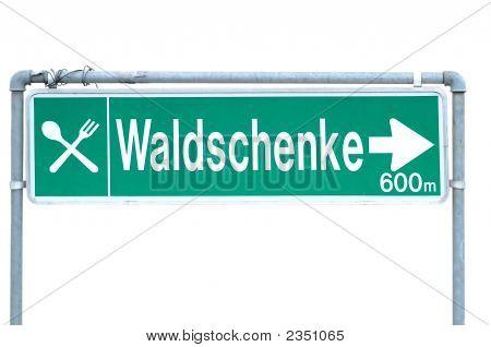 Marcador Schild Waldschenke