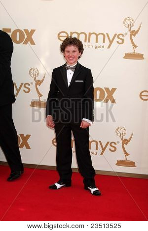 LOS ANGELES - SEP 18:  Nolan Gould arriving at the 63rd Primetime Emmy Awards at Nokia Theater on September 18, 2011 in Los Angeles, CA