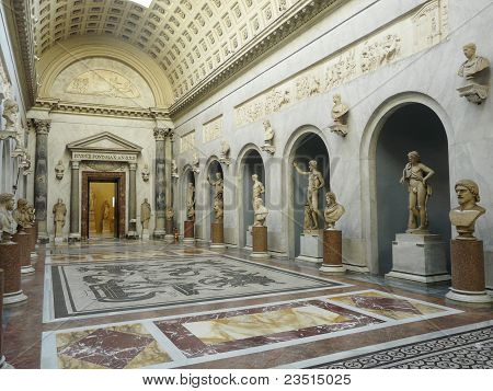 Gallery at the Vatican Museum, Italy