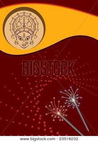 Deepawali Durga Greeting