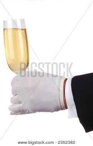 Man In Tuxedo Serving Champagne