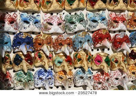 Mask Colorful Of The Carnival Of Venice