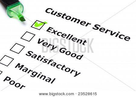 Pesquisa do serviço de cliente