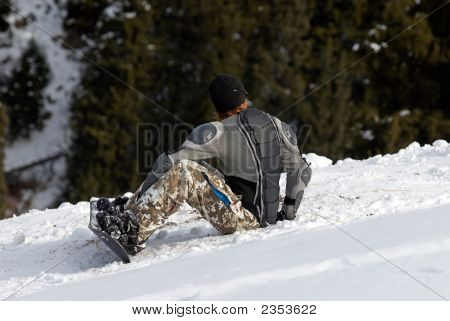 Snowboarder In Defence