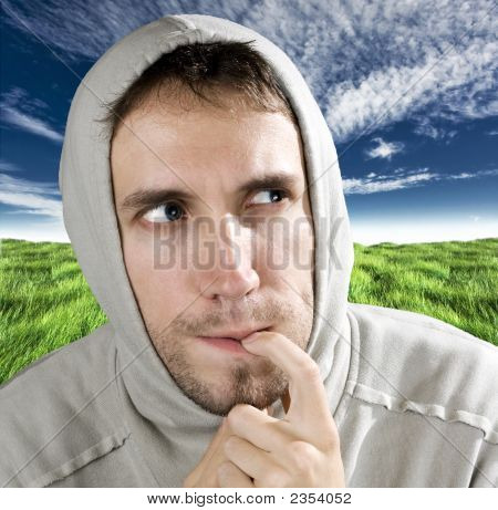 Ironically Pensive Man