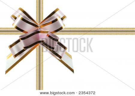 Congratulatory Ribbon White - Pink