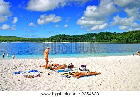 Lake Mckenzie, Fraser Island, Australia..