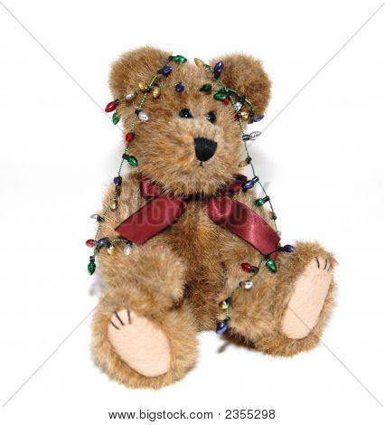 Holiday Christmas Bear With Lights