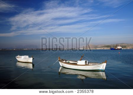 Pair Of Fishing Boats - Greece
