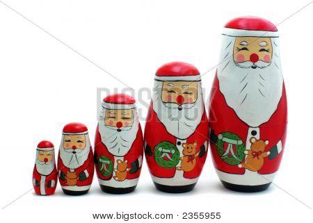 Santa Claus Russian Nesting Dolls